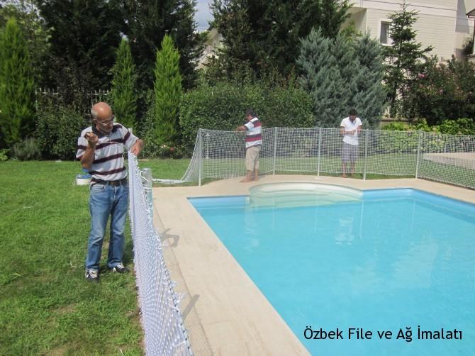 Havuz çevre güvenlik filesi imalat ve montaj