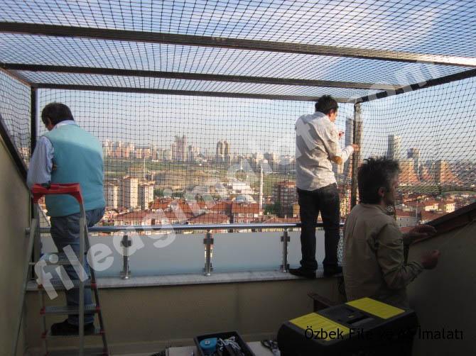 Balkon güvenlik ve kapama filesi
