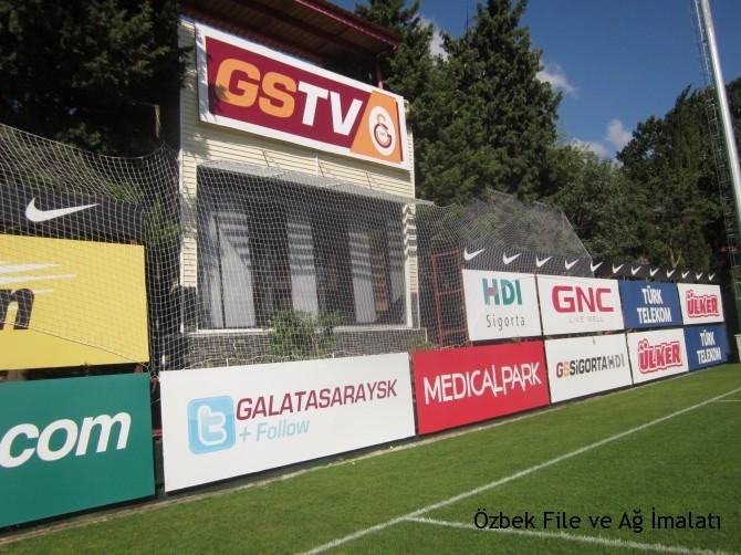 Futbol kale arkası koruma filesi